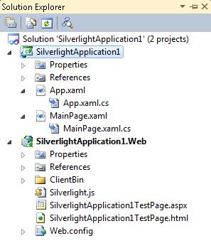 شكل 20 - مشروع السيلفرلايت في متصفح المشاريع