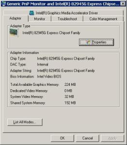 شكل 2 - Display Advanced Settings Dialog
